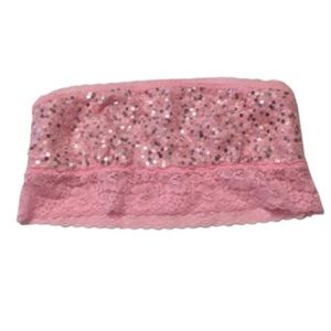Victoria's Secret PINK Lace & Sequin Bandeau Bra M